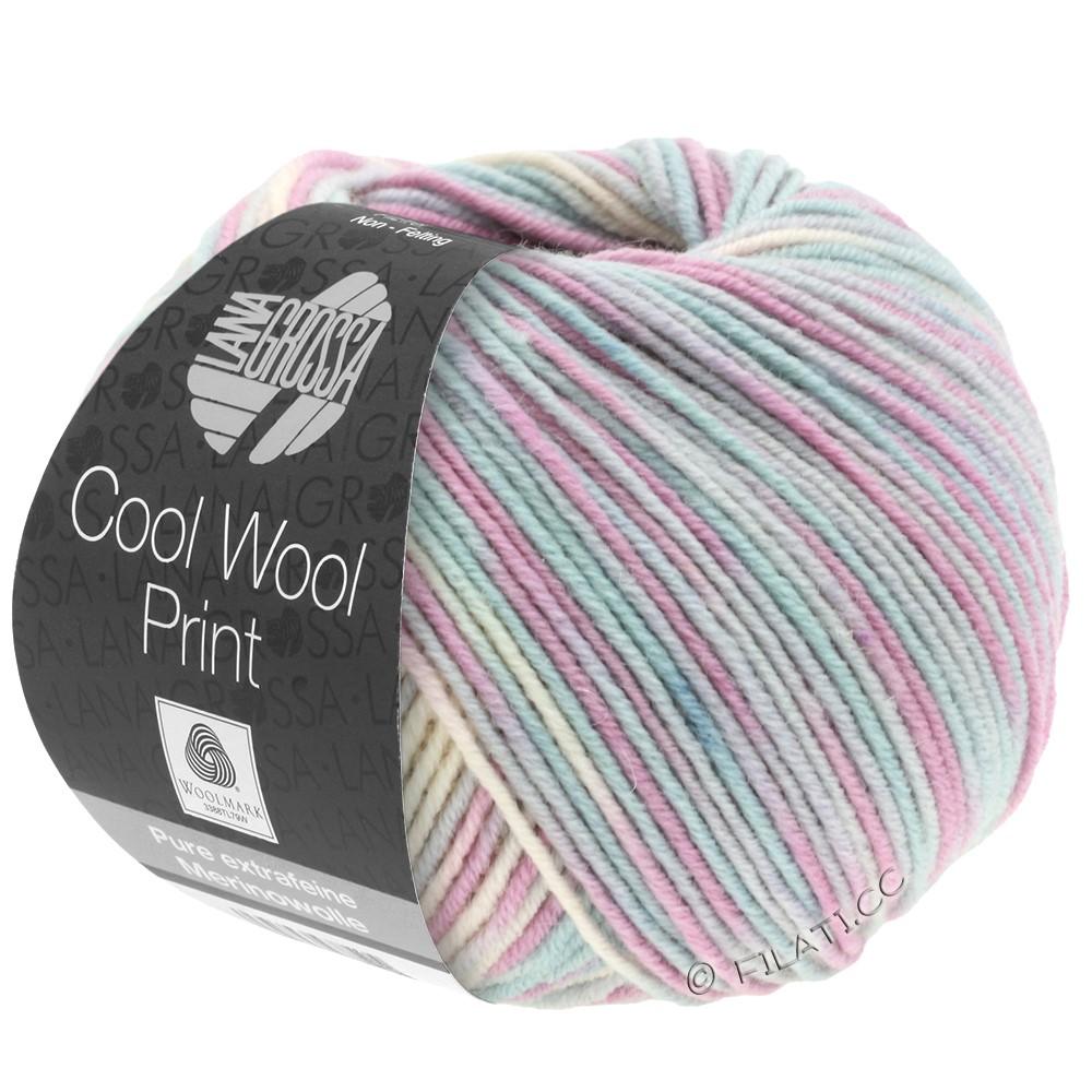 Lana Grossa COOL WOOL  Print | 792-zilvergrijs/munt/sering/bleekrosa