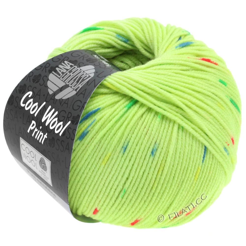 Lana Grossa COOL WOOL  Print | 809-licht groen/felroze/groen/blauw