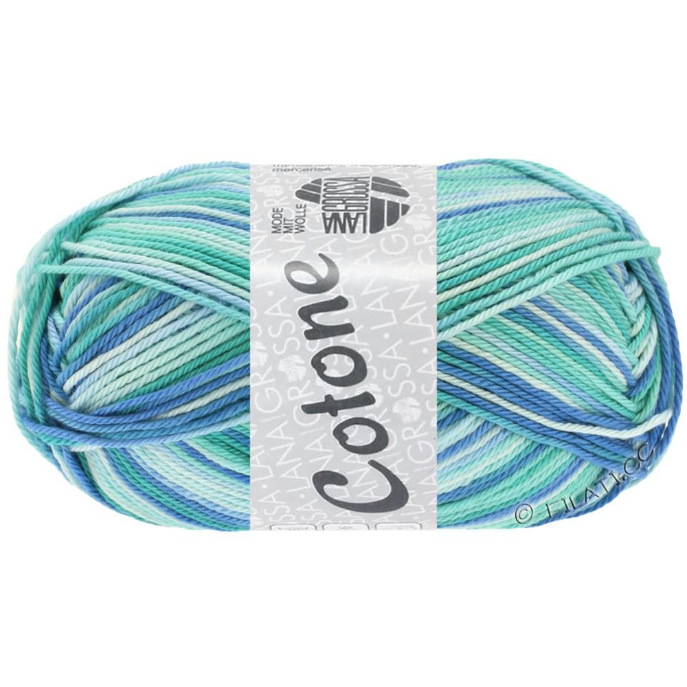 Lana Grossa COTONE  Print/Denim | 312-ijsblauw/lichtturkoois/blauw