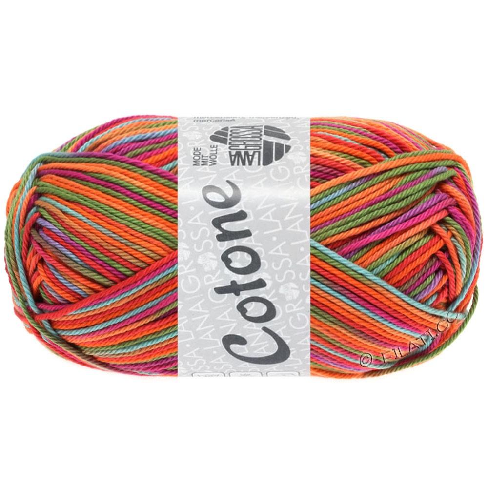 Lana Grossa COTONE  Print/Denim | 324-felroze/cyclaam/oranje/turkoois/groen/paars