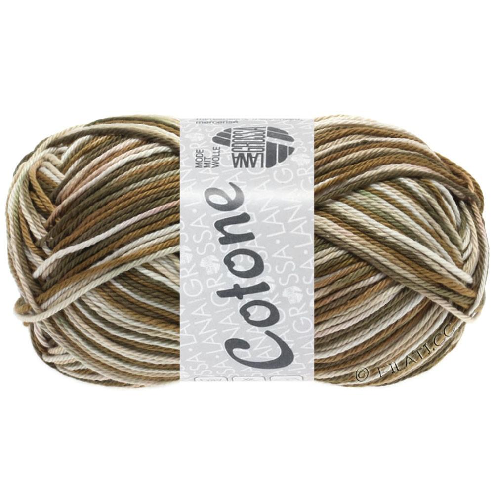 Lana Grossa COTONE  Print/Denim | 328-beige/bruin/grijs bruin