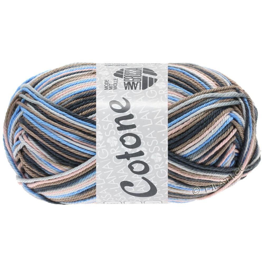 Lana Grossa COTONE  Print/Denim | 332-licht grijs/taupe/licht blauw/antraciet