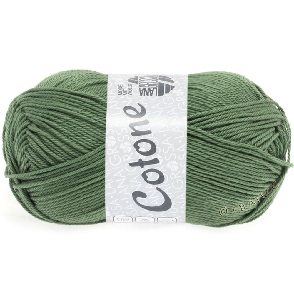 Lana Grossa COTONE   48-grijs groen