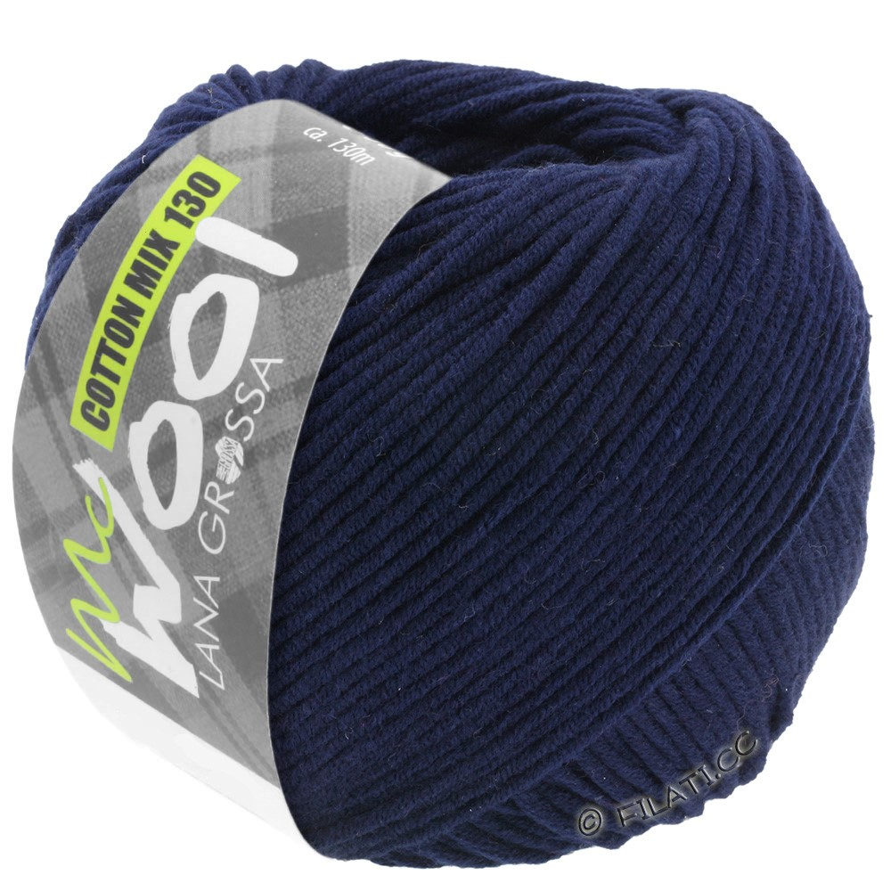 Lana Grossa COTTON MIX 130 (McWool) | 117-nacht blauw