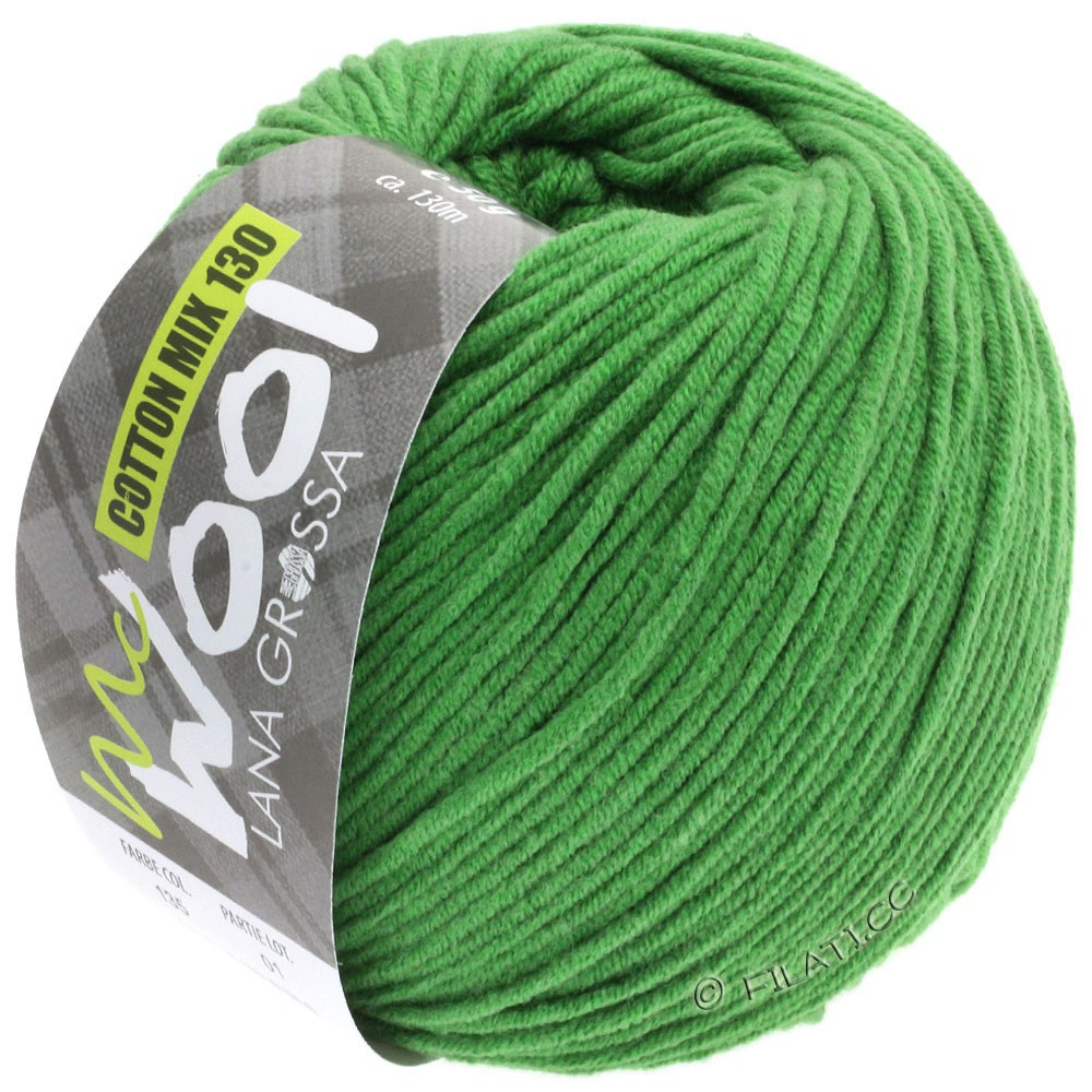 Lana Grossa COTTON MIX 130 (McWool) | 135-grasgroen