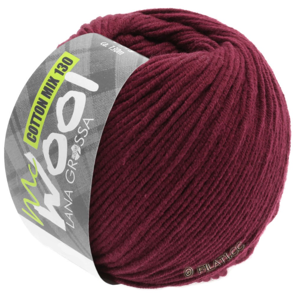 Lana Grossa COTTON MIX 130 (McWool) | 142-bordeaux