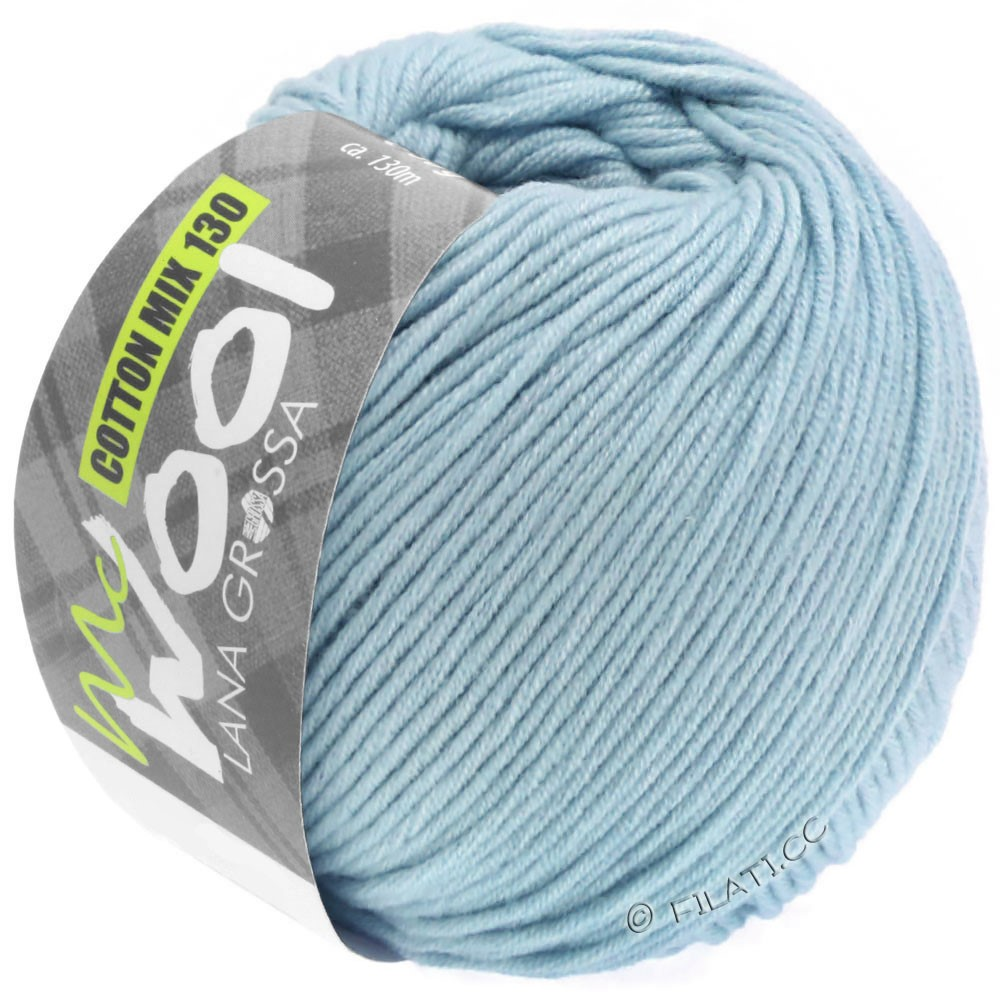 Lana Grossa COTTON MIX 130 (McWool) | 150-licht blauw
