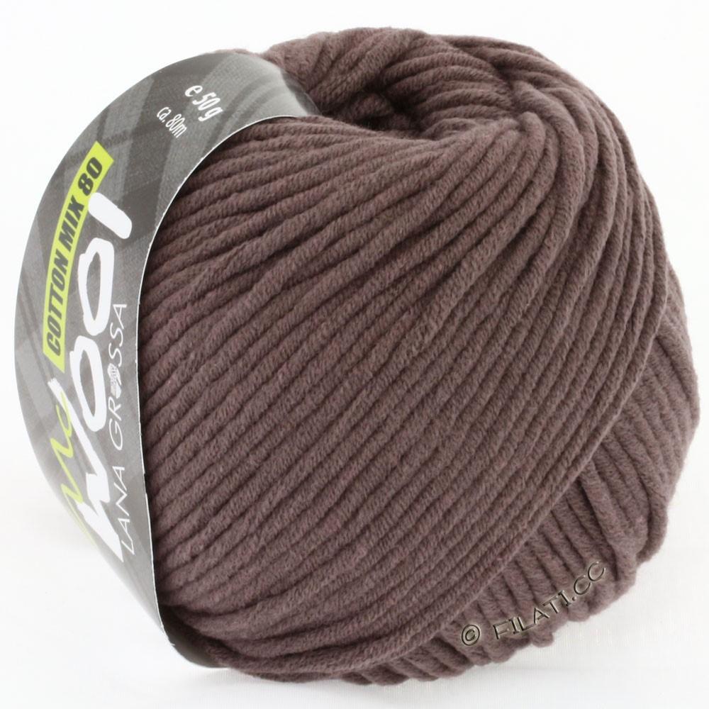 Lana Grossa COTTON MIX 80 (McWool) | 514-chocoladebruin