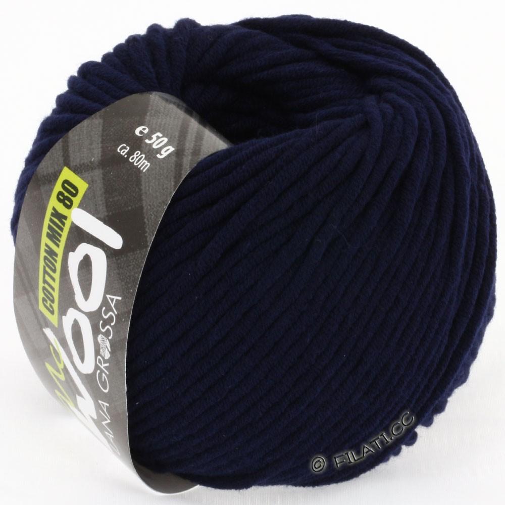 Lana Grossa COTTON MIX 80 (McWool) | 517-nacht blauw