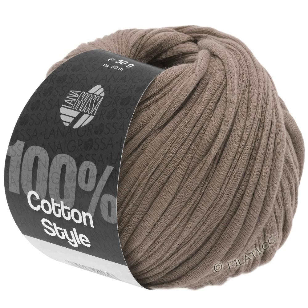 Lana Grossa COTTON STYLE   04-grijs bruin