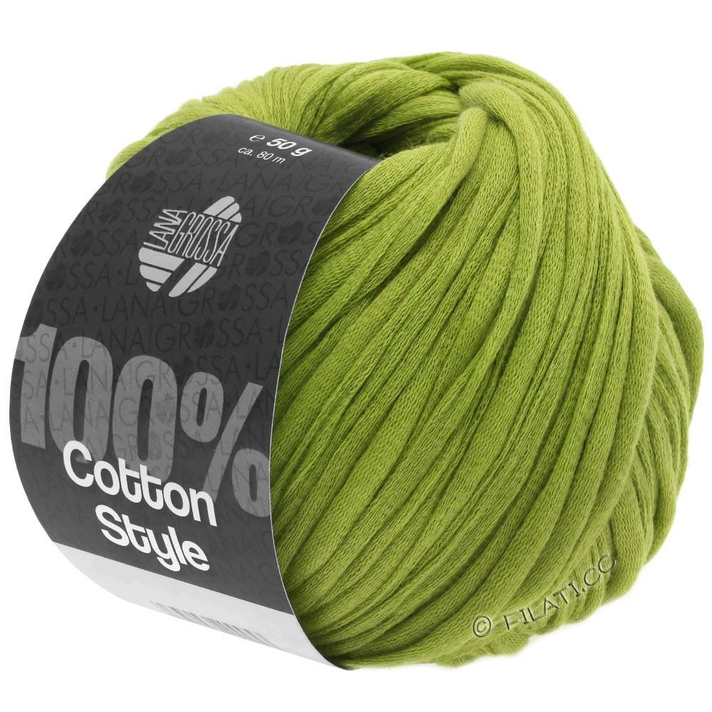 Lana Grossa COTTON STYLE   10-geelgroen