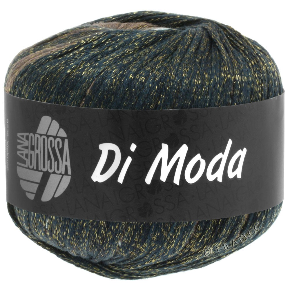 Lana Grossa DI MODA   08-groengrijs/grijs blauw/jeans/nootbruin/mokka