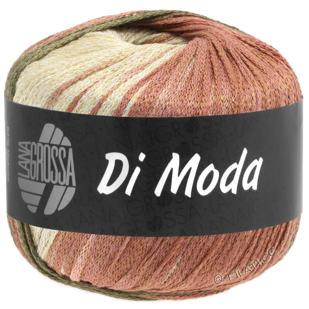 Lana Grossa DI MODA | 15-terracotta /donker olijf/kakibruin