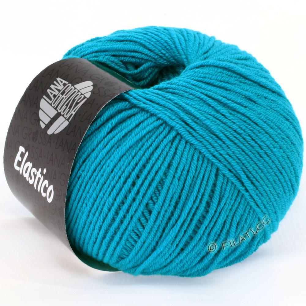 Lana Grossa ELASTICO  Uni/Print | 112-turkoois blauw