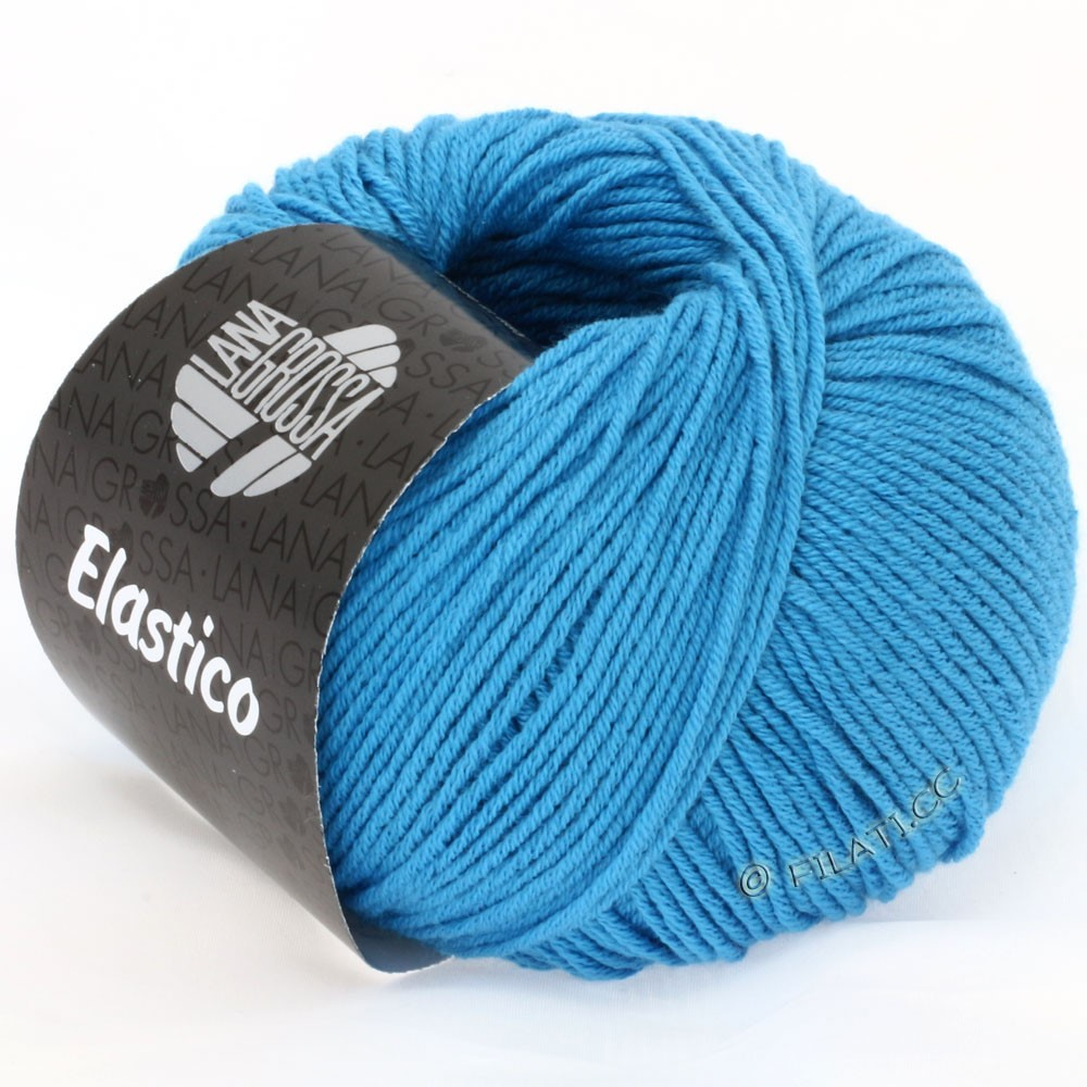 Lana Grossa ELASTICO  Uni/Print | 115-azuurblauw