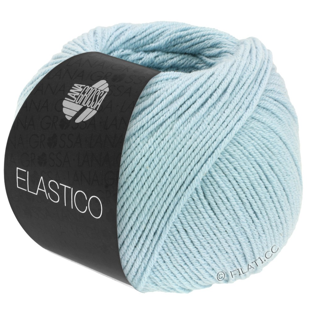 Lana Grossa ELASTICO  Uni/Print | 130-zachtblauw