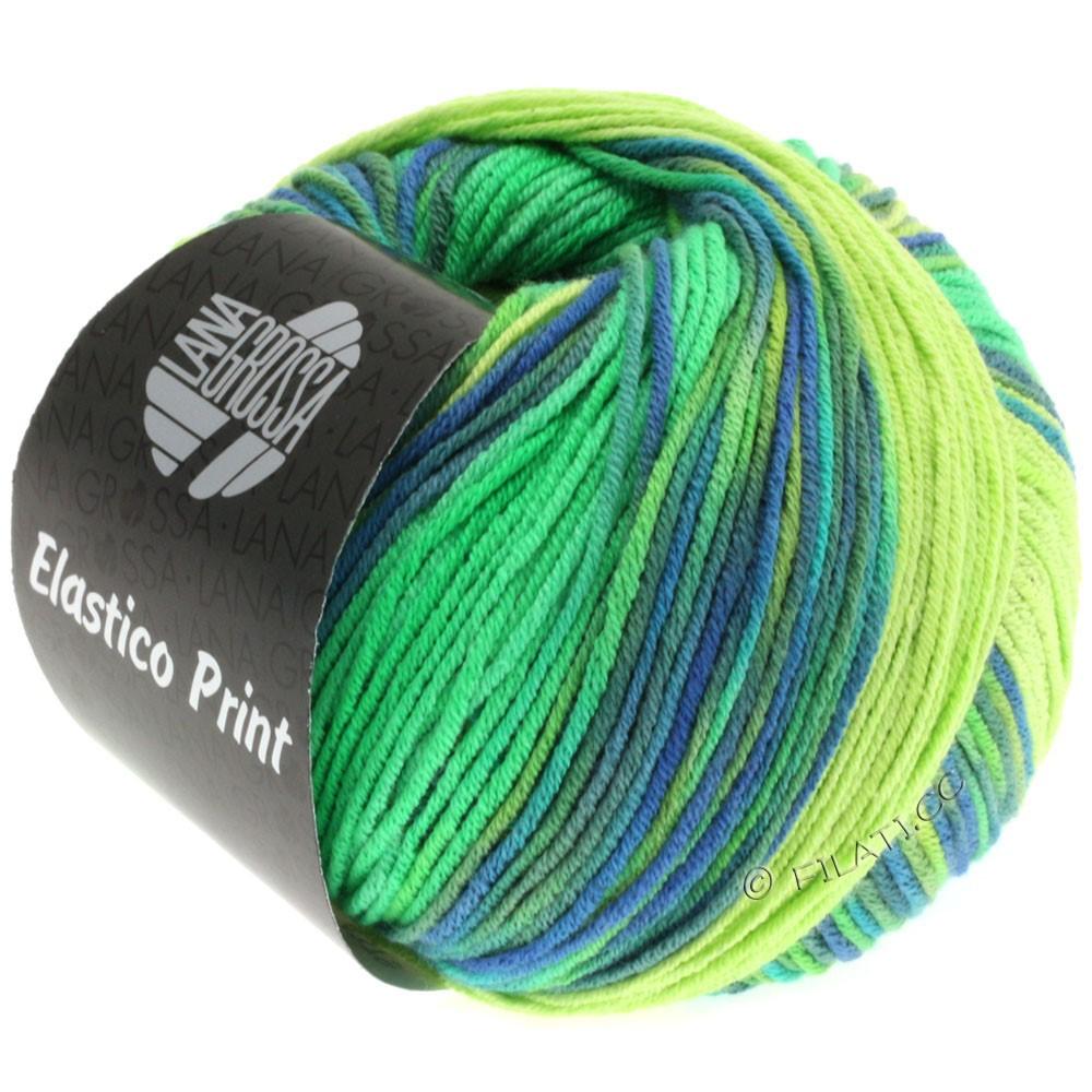 Lana Grossa ELASTICO  Uni/Print | 501-licht groen/heldergroen/royaal/grijs groen
