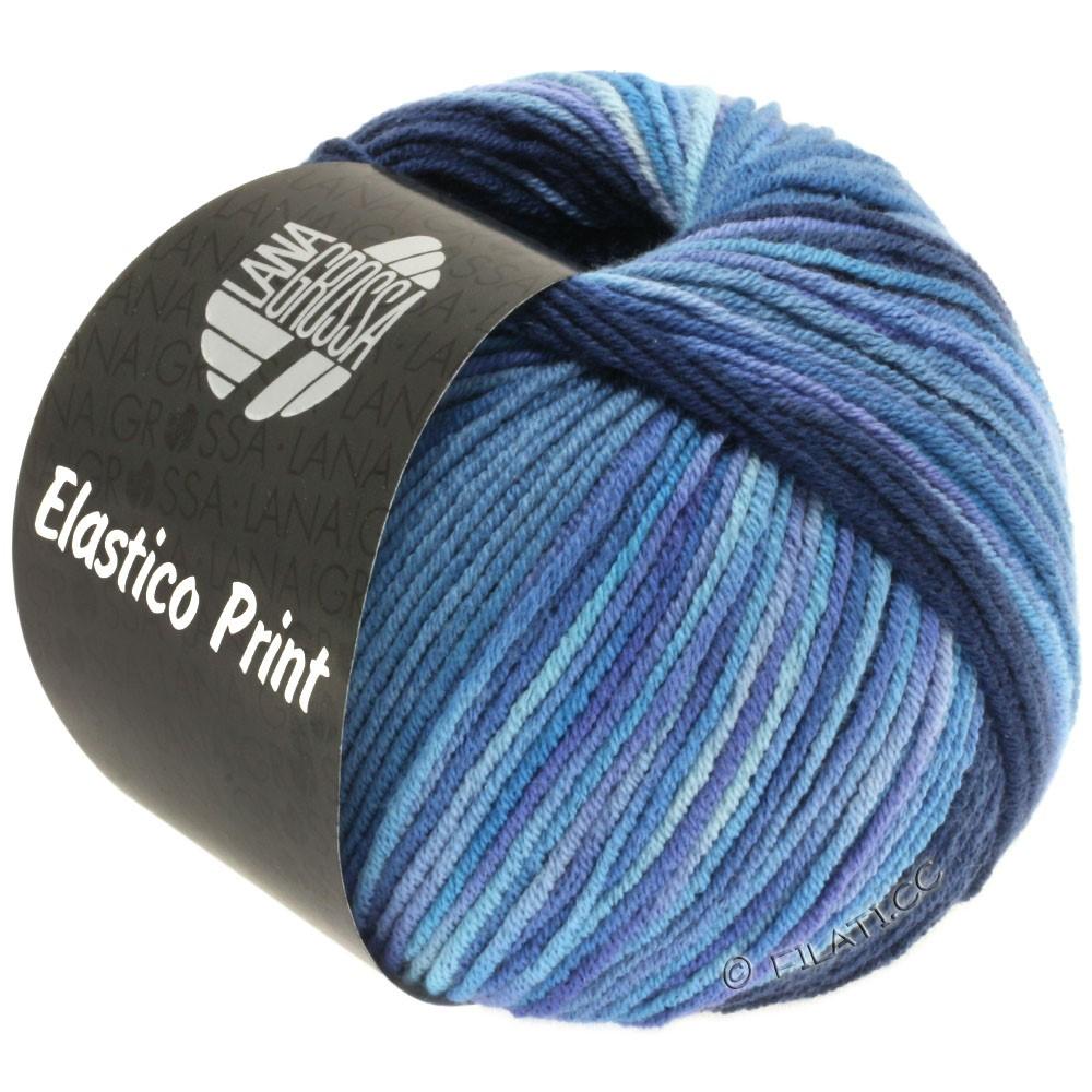 Lana Grossa ELASTICO  Uni/Print | 520-nacht blauw/jeans/blauw violet/sering