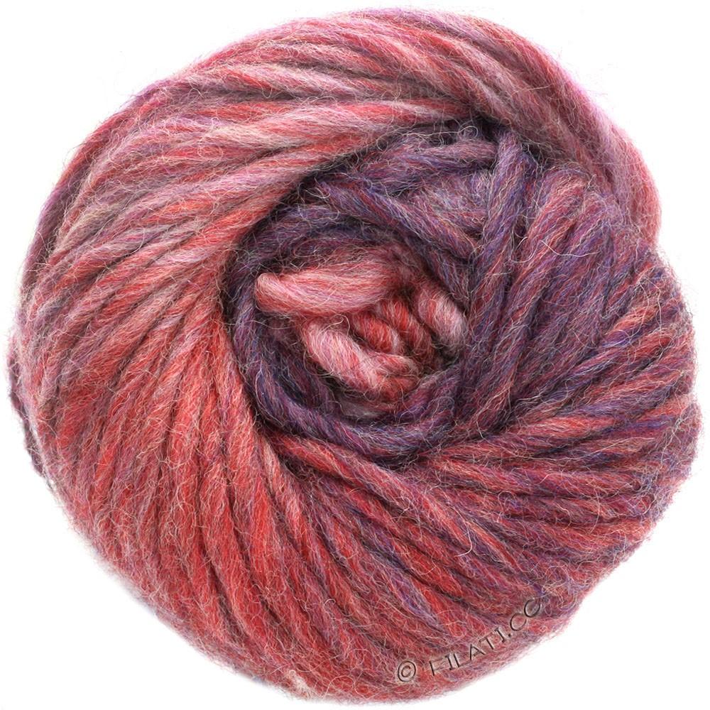 Lana Grossa FELTRO Degradé | 1301-rose/baksteenrood/grijs violet