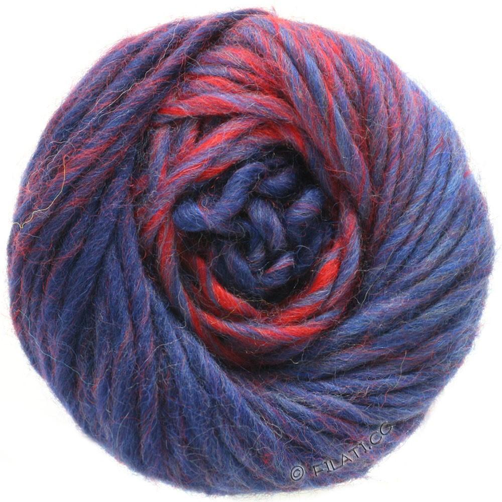 Lana Grossa FELTRO Degradé | 1305-donker rood/donker blauw/marine