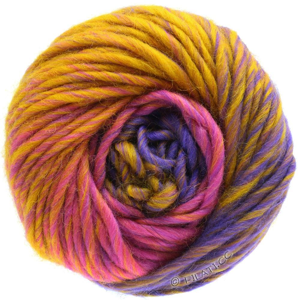 Lana Grossa FELTRO Degradé | 1309-felroze/goudgeel/violet