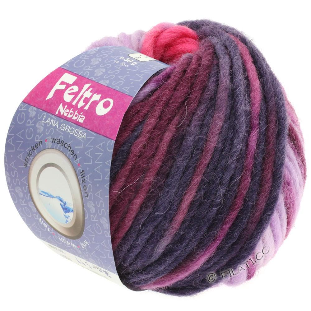 Lana Grossa FELTRO Nebbia | 1502-felroze/paars/rood violet/aubergine/jeans