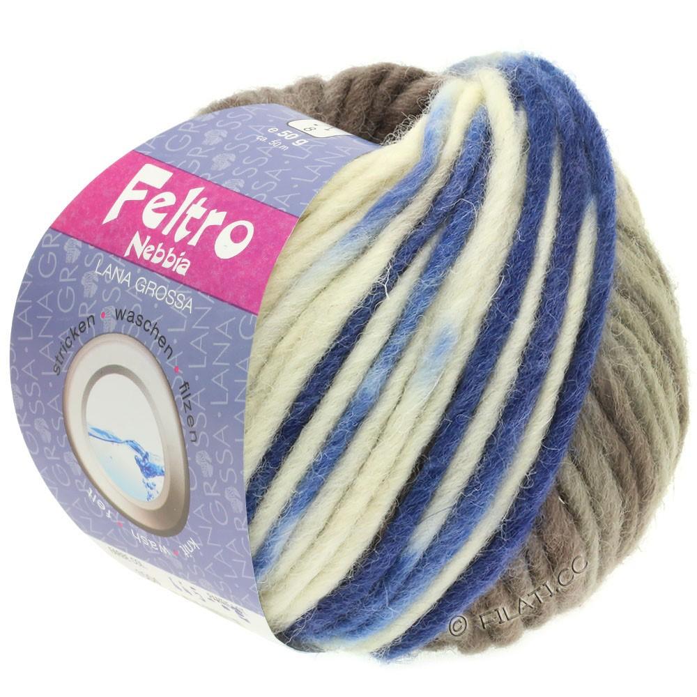 Lana Grossa FELTRO Nebbia | 1503-wit/grijs bruin/blauw
