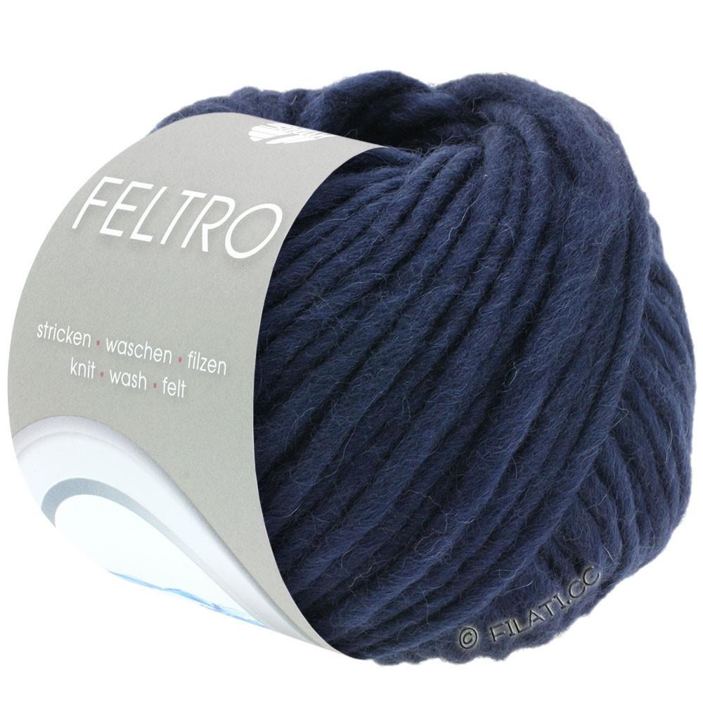 Lana Grossa FELTRO  Uni | 005-nacht blauw