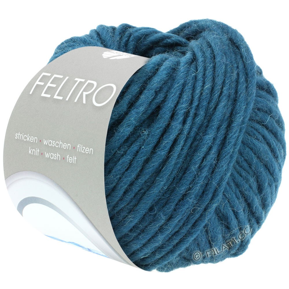 Lana Grossa FELTRO  Uni | 040-petrol blauw