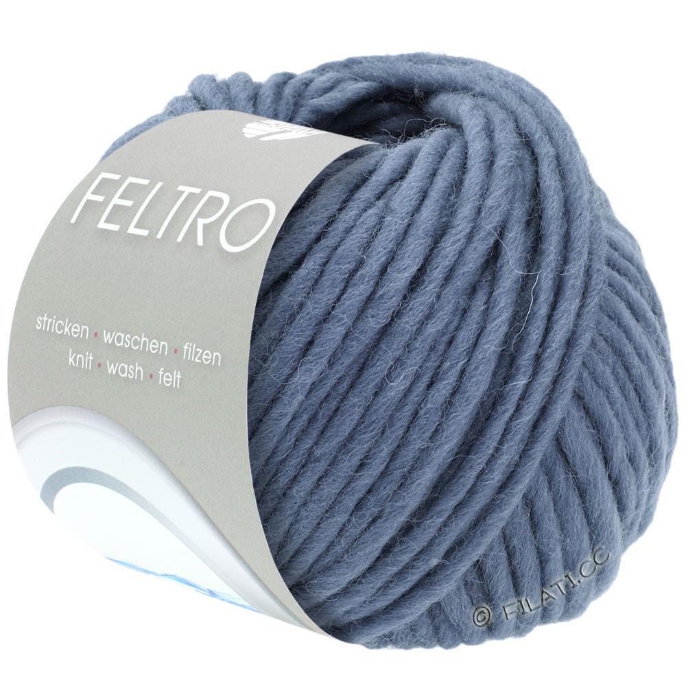 Lana Grossa FELTRO  Uni | 073-rook blauw