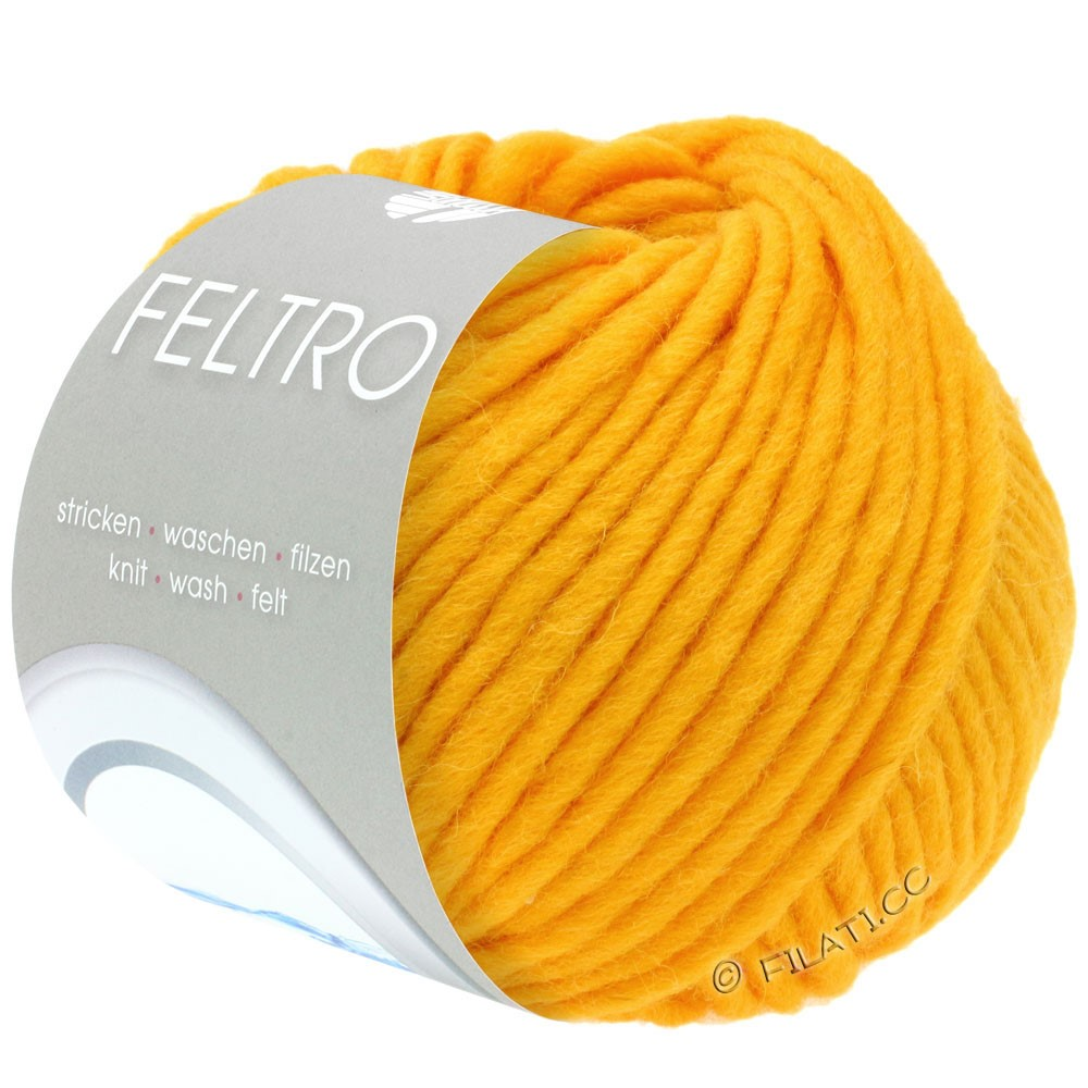 Lana Grossa FELTRO  Uni | 078-dooier geel
