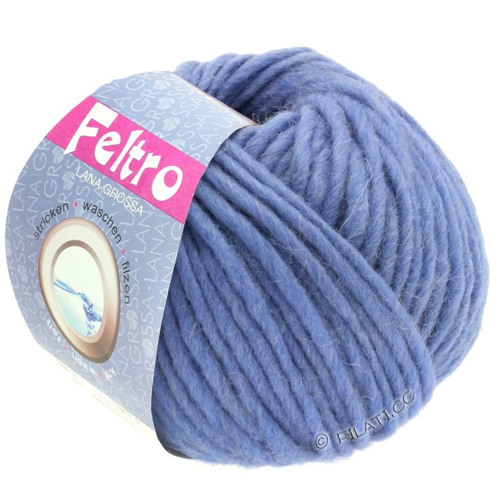Lana Grossa FELTRO  Uni | 081-shiner blauw