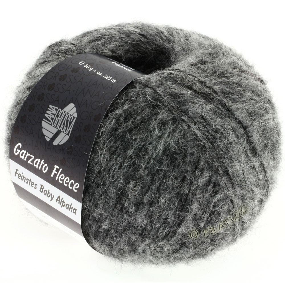 Lana Grossa GARZATO Fleece Uni/Print/Degradé   010-grijs/zwart