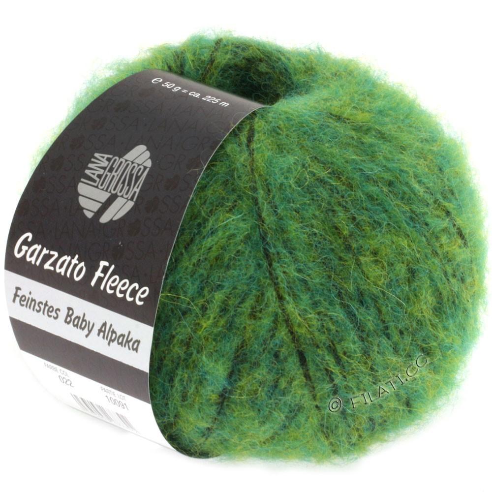 Lana Grossa GARZATO Fleece Uni/Print/Degradé   022-groen/geel/zwart