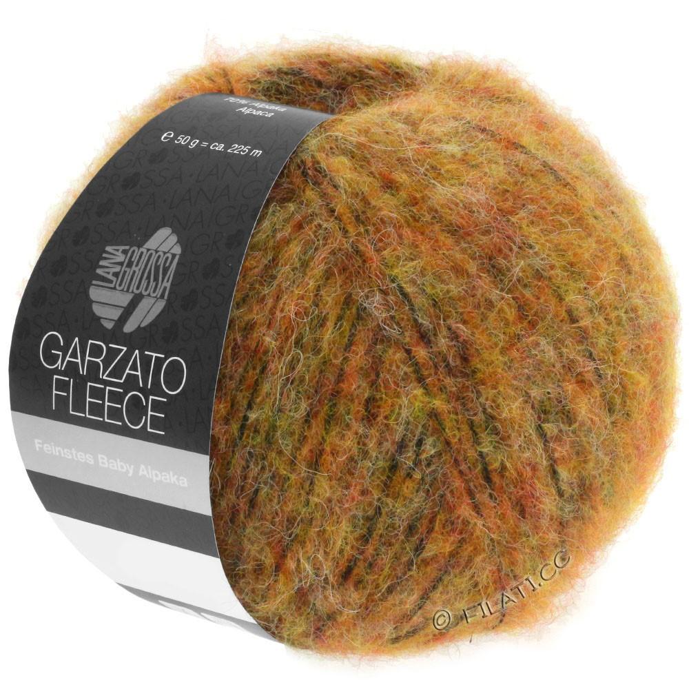 Lana Grossa GARZATO Fleece Uni/Print/Degradé   029-geel/oranje/zwart