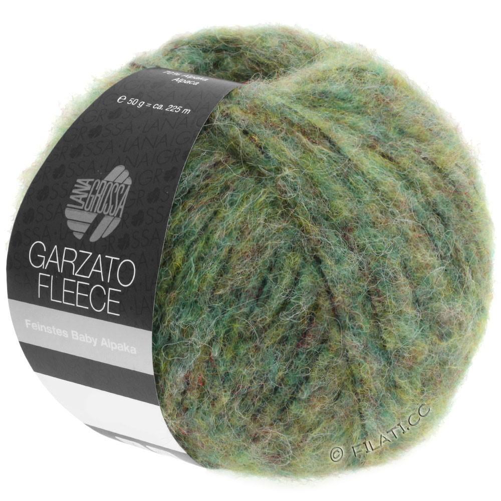 Lana Grossa GARZATO Fleece Uni/Print/Degradé   030-licht groen/geelgroen/zwart