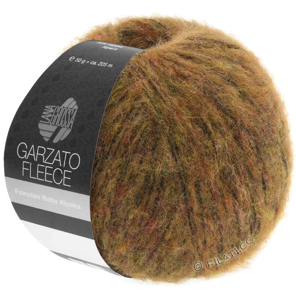 Lana Grossa GARZATO Fleece Uni/Print/Degradé   031-lichtbruin/oker/zwart