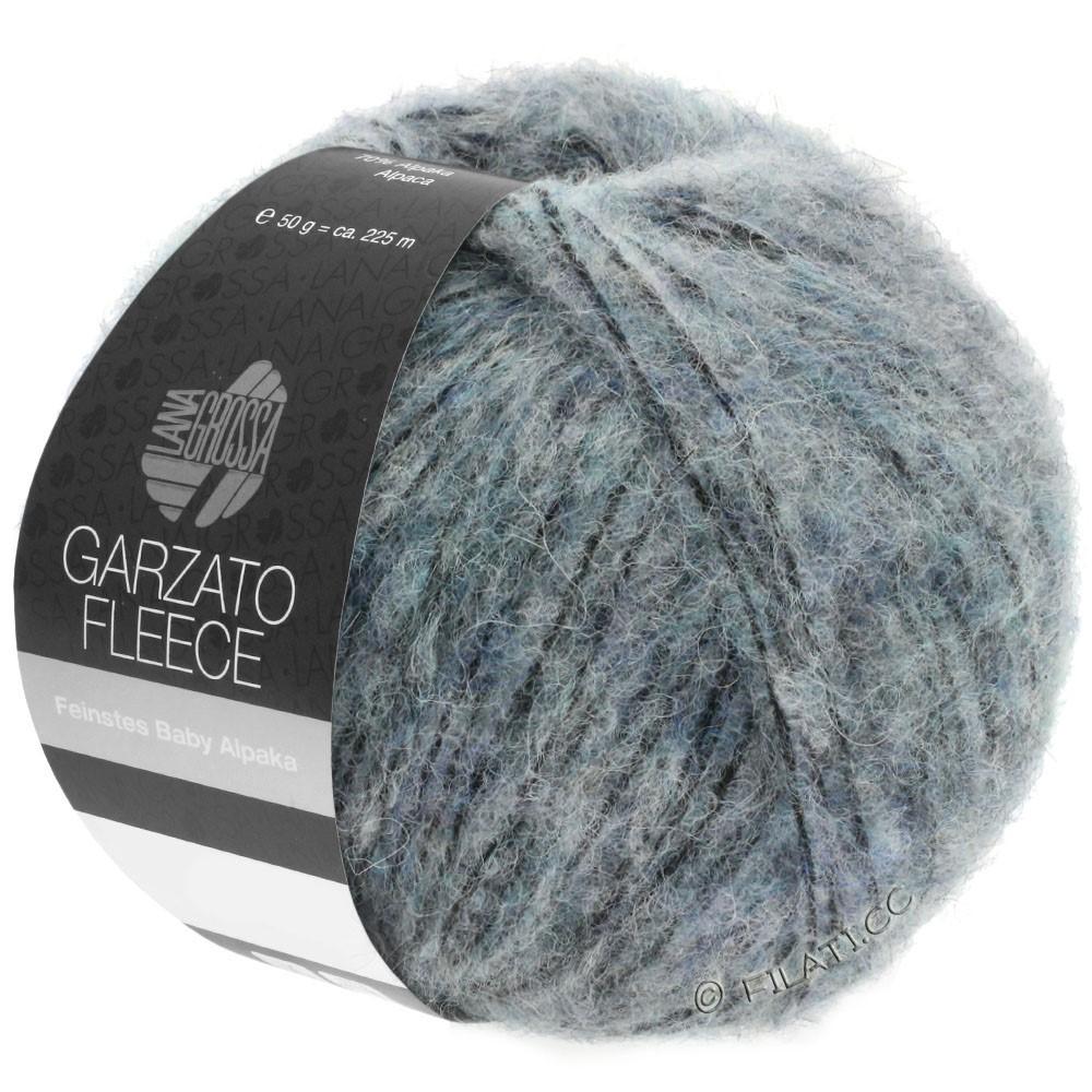 Lana Grossa GARZATO Fleece Uni/Print/Degradé   032-licht blauw/zwart