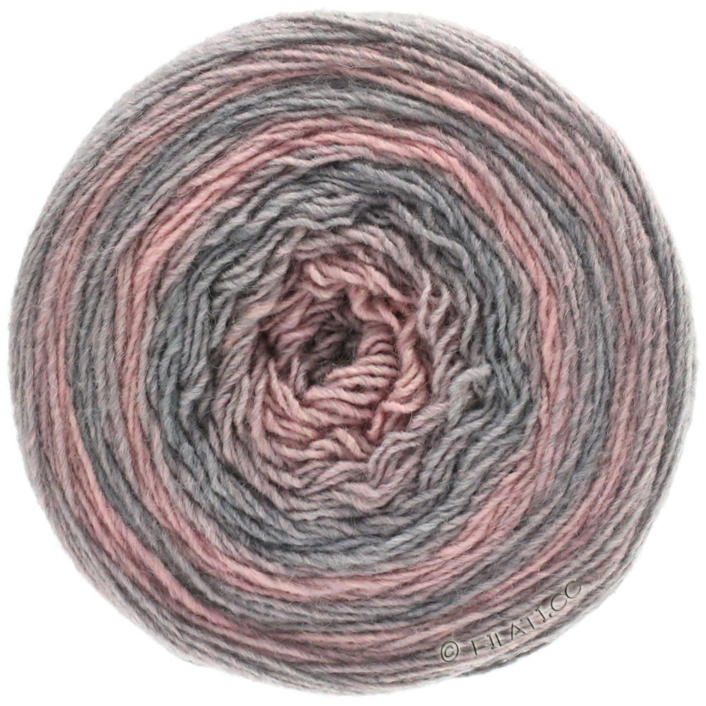 Lana Grossa GOMITOLO 200 Degradé | 303-licht grijs/rose