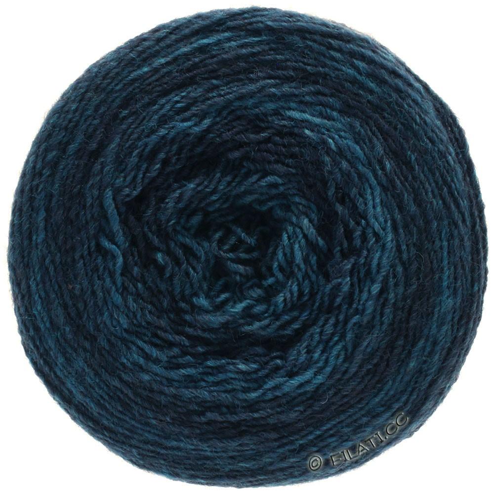 Lana Grossa GOMITOLO 200 Degradé | 307-donker blauw/petrol