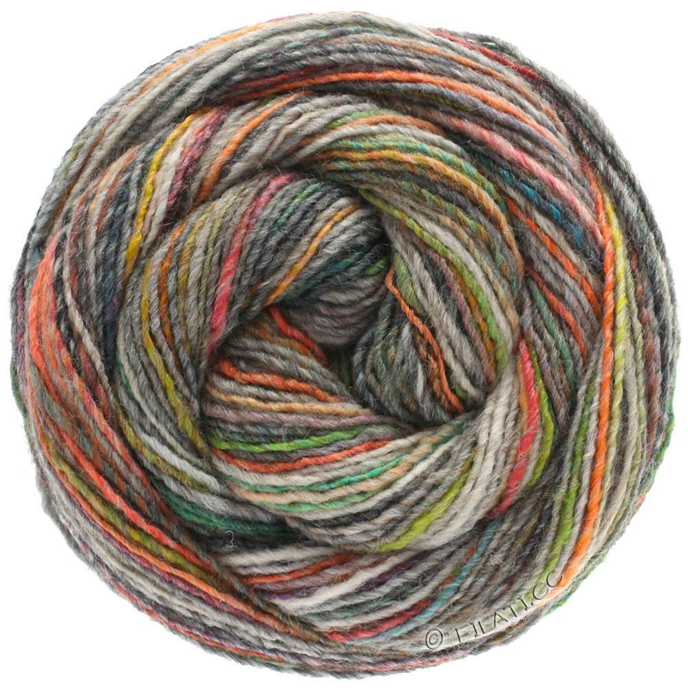 Lana Grossa GOMITOLO 200 | 208-oranje/citroengeel/licht grijs/beige/natuur
