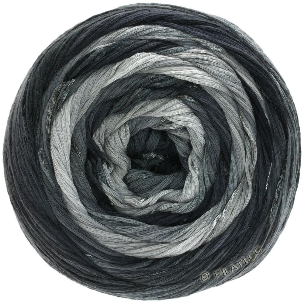 Lana Grossa GOMITOLO ESTATE | 310-licht grijs/donker grijs/zwart/natuur