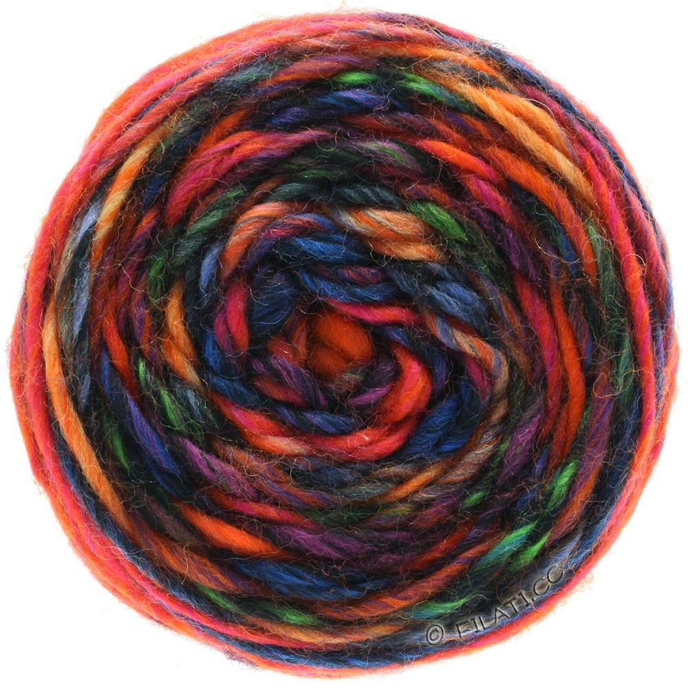 Lana Grossa GOMITOLO Merino   05-oranje/rood/violet/petrol/blauw/zwart