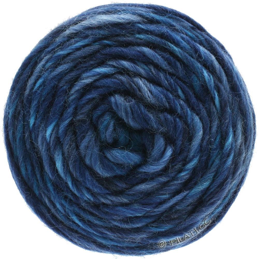 Lana Grossa GOMITOLO Merino   09-licht blauw/jeans/donker blauw