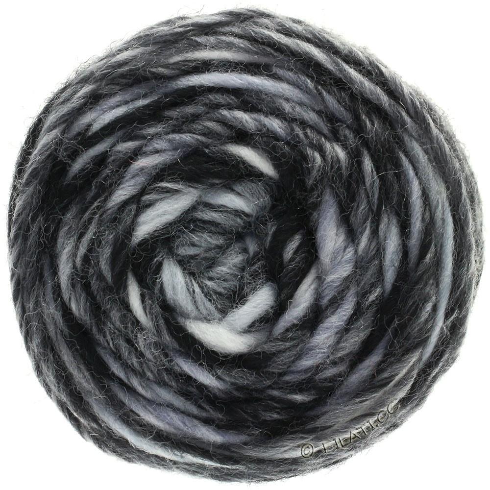 Lana Grossa GOMITOLO Merino   11-wit/licht grijs/donker grijs/zwart