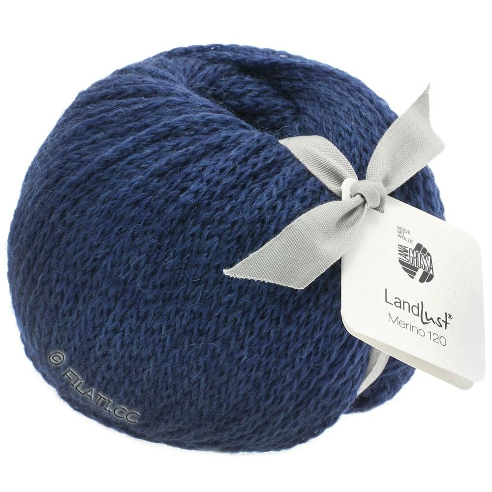 Lana Grossa LANDLUST MERINO 120 | 108-donker blauw