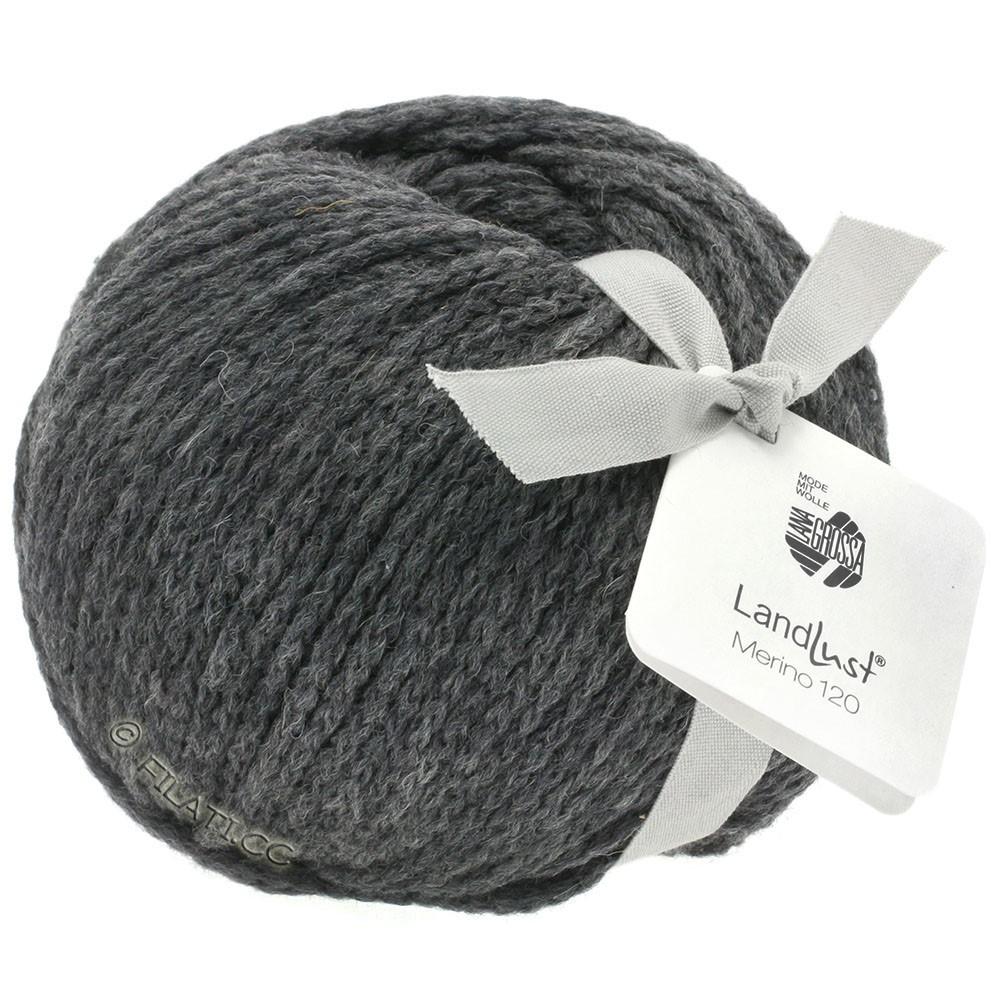 Lana Grossa LANDLUST MERINO 120 | 119-donker grijs
