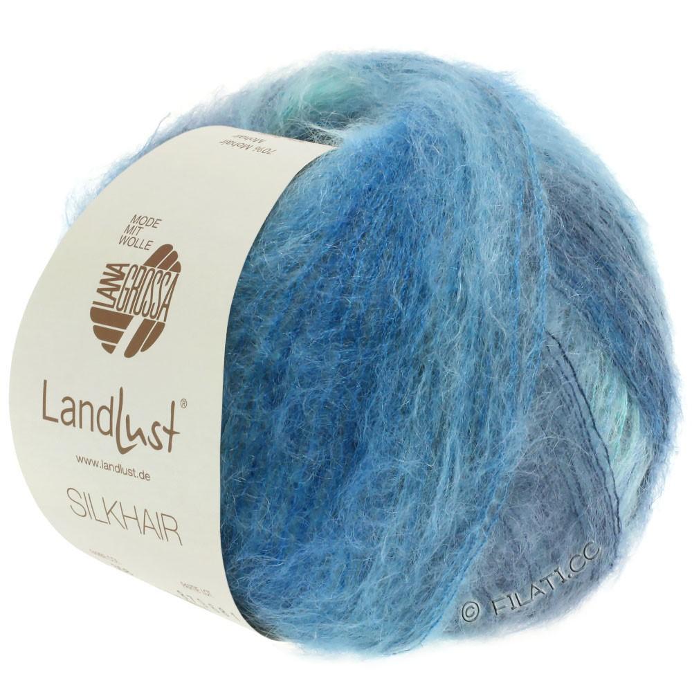 Lana Grossa LANDLUST SILKHAIR | 360-licht blauw/turkoois/rook blauw/petrol blauw