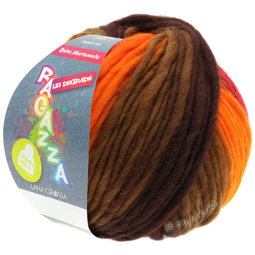 Lana Grossa LEI Degradé (Ragazza) | 506-oranje/rood/bruin