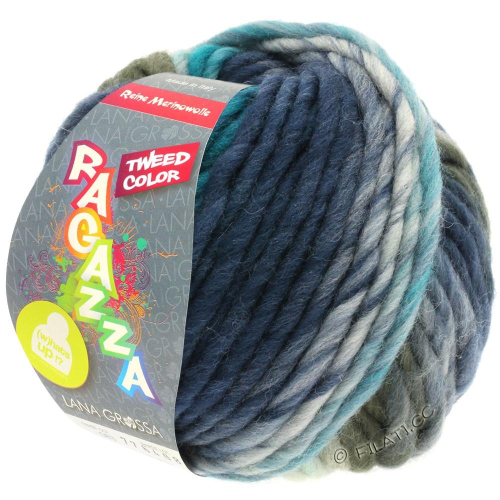 Lana Grossa LEI Tweed Color (Ragazza) | 403-licht blauw/blauwgrijs/donker blauw gemêleerd